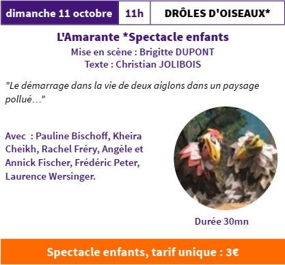 FESTI'MARANTE  Drôle d'oiseaux par la Compagnie l'Amarante @ Salle Gérard Philippe