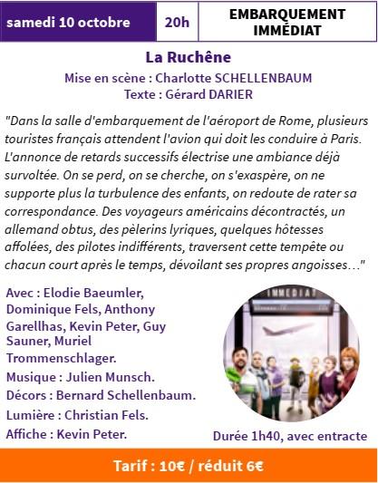 FESTI'MARANTE  Embarquement immédiat par la Compagnie La Ruchêne @ Salle Gérard Philippe