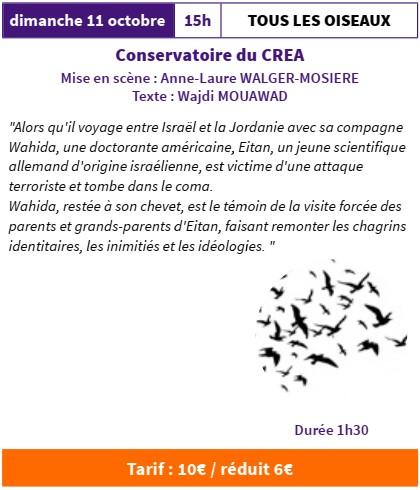 FESTI'MARANTE  Tous les oiseaux par le Conservatoire du CREA @ Salle Gérard Philippe